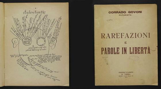 Corrado Govoni, Rarefazioni e parole in libertà